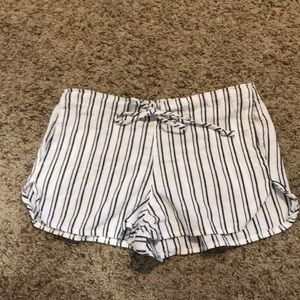 brandy melville striped shorts with drawstring